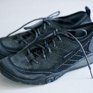 Brand  New Merrell Grey Black Suede Comfort Walking Hiking Lace Up Shoes